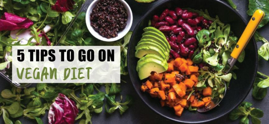 5 TIPS TO GO ON VEGAN DIET